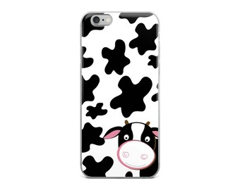 Dairy Cow Holstein Black and White Cows Farm iPhone 5/5s/Se, 6/6s, 6/6s Plus Case