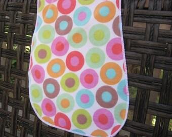 Large polka dot Burp Cloth