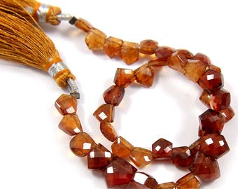 Natural Hessonite Garnet Gemstone,Faceted Fancy Beads,Wire Wrappped Making Jewelery,Gemstone Size 6-7 mm,Full 1 Strands X 8 inches,BL-57
