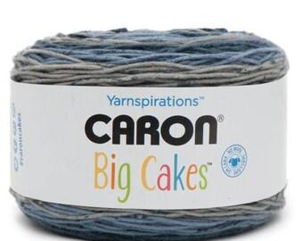 Caron® Big Cakes™  Self Stripping Yarn Colors Nightberry - Tiramisu - Peppercream - Grape Jelly or Cake Roll