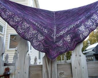 Wavebird Lace Shawl Knitting Pattern PDF
