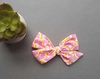 Pink Lemonade Windmill Bow - Baby Bows - Baby Headbands - Bow Tie - Hair Clip - Toddler Bows - Hair Accessories
