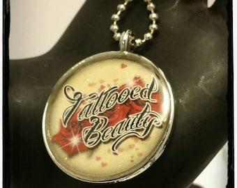 Tattooed Beauty Pendant Necklace