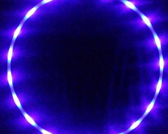 Nocturnal LED Hula Hoop 20 PurpleUV(blacklight) Solid Color LEDs - Rechargeable Li-Ion