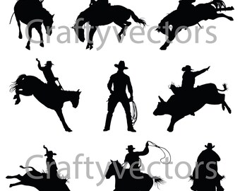 Rodeo Cowboy vector file