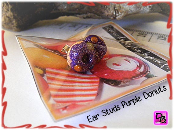 Puces Donuts Violet