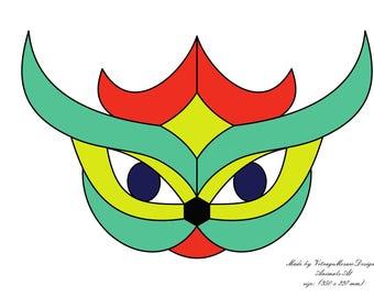 stained glass pattern, glass cat, gift, PDF pattern, vitrage pattern, tiffany, mosaic pattern, painting glass