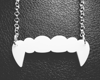 Vampire bite necklace