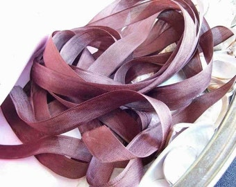 Vintage- Seam Binding- Chocolate Brown-Ribbon-Silky