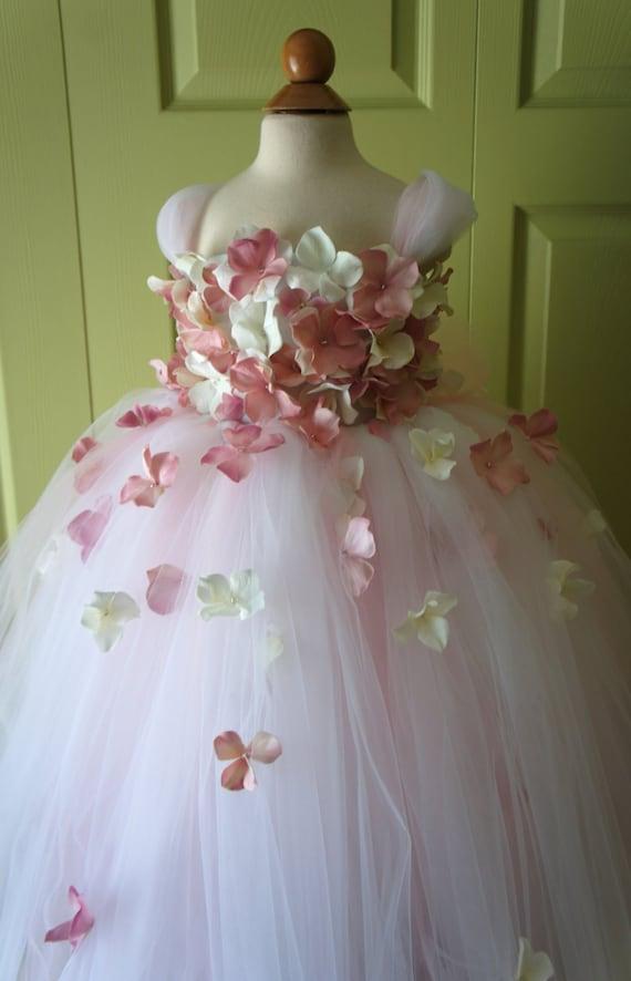 Flower girl dress tutu dress blush pink dress ivory dress mightylinksfo
