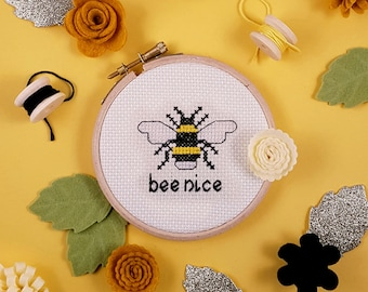 Bee Nice - Adult Subversive Funny Cross Stitch