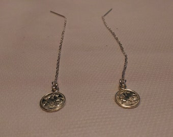Silver-lined earrings 924 with 8 mm pounds