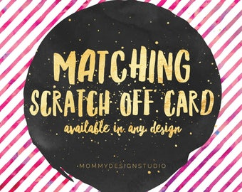 Match Your Business Cards! - Matching Scratch Off Card- Fashion Retailer - VIP Shop Group - BUNDLE add on - scratch to win  - MuLaBucks
