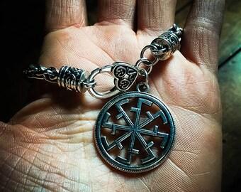 Kolovrat Amulet Bracelet - Witchcraft ~ Witchery ~ protection ~ prosperity ~ Witch ~ Talisman ~Amulet ~ slavic ~ slavic Witchcraft ~ sun