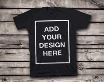 Design Your Own Customized T-Shirt - Add your Photo , Text Print - Personalized High Quality 100% Cotton Shirt