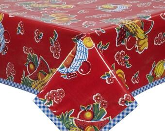 Square Fruit Basket Red Tablecloth or Splat Mat