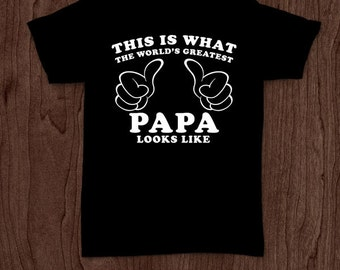 World's best papa t-shirt tee shirt tshirt Christmas dad father daddy family fun father's day grandfather family gift for dad best dad top