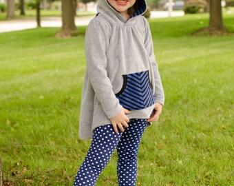 Love Notions Hazelwood Hoodie & Tunic 12m-14yrs plus BONUS free leggings pattern