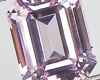Pink Sapphire Excellent Cut Asscher 10x 8 mm Gemstone Loose Gemstone Loose Lab Created Sapphire