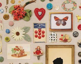 American Vintage fabric - Walnut Hill Farm - Cotton - Blend Fabrics designer Charlotte Lyons - applique and buttons - 50cm (110 x)