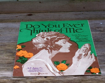 Vintage Sheet Music Do You Ever Think of Me
