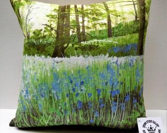 Bluebells  - A Lynda Taylor Cushion