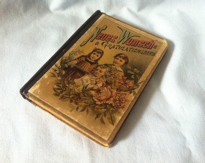 Antique New Wish & Congratulations book