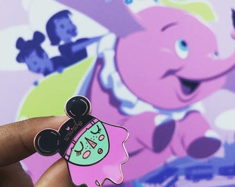 Weirdo Mouse Ear Girl Hard Enamel Pin, Disney inspired. Mouse ears.