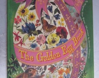 1975 THE GOLDEN EGG Book Large Pictorial Children's Book Margaret Wise Brown Golden Press
