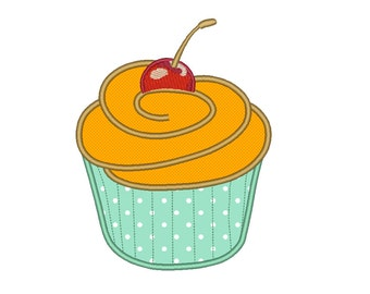 Cup Cake Applique Embroidery Designs Machine Embroidery Designs PES 9 Size Applique Designs - INSTANT DOWNLOAD