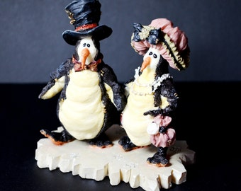 "BOYDS Bears & Friends Wee Folkstone Collection Figurine ""MR and MRS Penguins"""