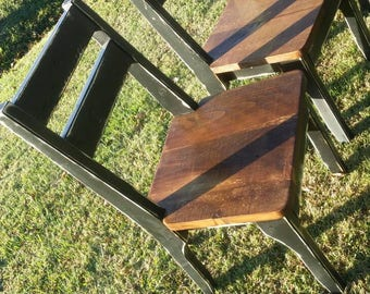 Rustic Finished Farmhouse Dining Pine Chair, Classic Style