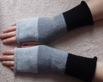 knitted fingerless mittens, knit arm warmers, handmade hand warmers, knit fingerless gloves, winter armwarmers, CHOOSE COLOURS and SIZE