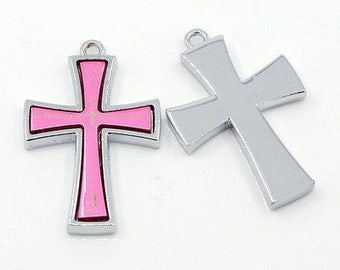 Pink Platinum Cross - Sold Individually - #HK1374
