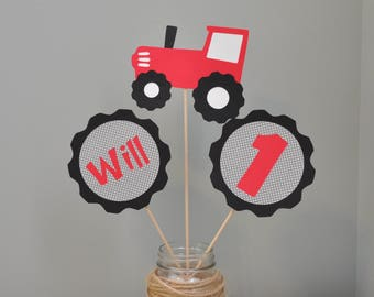 Tractor Party Center Piece, Tractor Party Decorations, Tractor Birthday