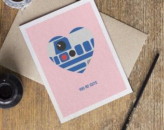Star wars love card etsy