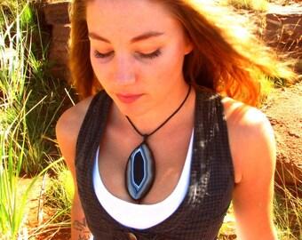Sardonyx  Necklace / Sardonyx jewelry / for mom   / Macrame / Healing Stones and crystals / Stone jewelry / wrapped pendant / macrame