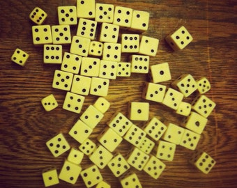 Lot of Vintage White Dice