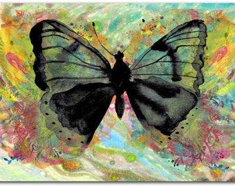 Original Butterfly greeting card handmade 10.5 cm x 15 cm