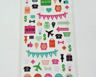 Love Planner Puffy Stickers Agenda 52 by Paper Studio 82 pc