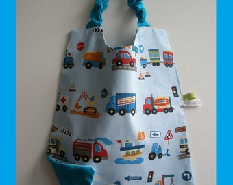 "towel canteen elastic for back to school ""small car and the triangle"" fabric option"
