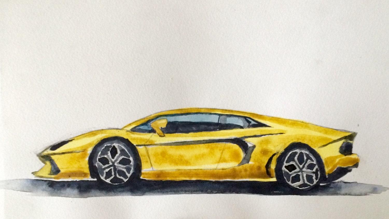 Lamborghini Aventador Car painting Lamborghini car