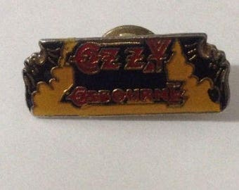 """Vintage 1980's Ozzy Osbourne Bats 1"""" Enamel Lapel Pin Heavy Metal Rock and Roll Prince of Darkness"""