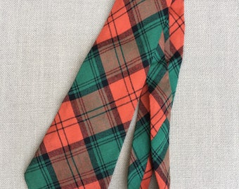 Stewart Tartan, Vintage Men's Necktie, Made in Scotland