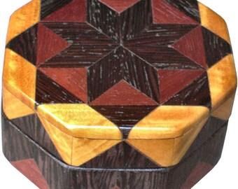 Wenge Star Ring Box