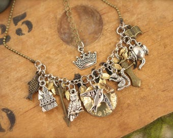Sword in the Stone Inspired Charm Necklace