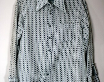 vintage polyester men's shirt size XL