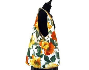 10 custom options !  VINTAGE RETRO Boho bags - in Orange and Brown fabrics