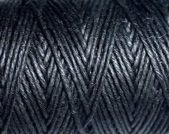 Reel 90 m - 1.2 mm black hemp twine cord - 8741140010963