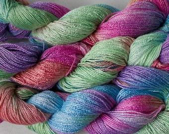 Fine Bamboo, Hand Painted yarn, 300yds - Fiesta